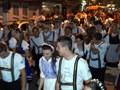 Desfile cultural dos comerciantes, funcionários e grupos culturais na 25ª Festa Pomerana